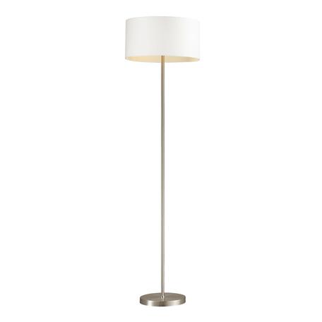Торшер Lumion Moderni Nikki 3745/2F, 2xE27x60W, никель, белый, металл, текстиль