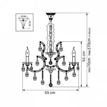 Схема с размерами Lightstar 879067