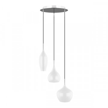 Люстра-каскад Lightstar Pentola 803050, 3xE14x40W, хром, белый, металл, стекло