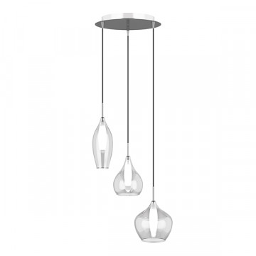 Люстра-каскад Lightstar Pentola 803051, 3xG9x25W, хром, прозрачный, металл, стекло