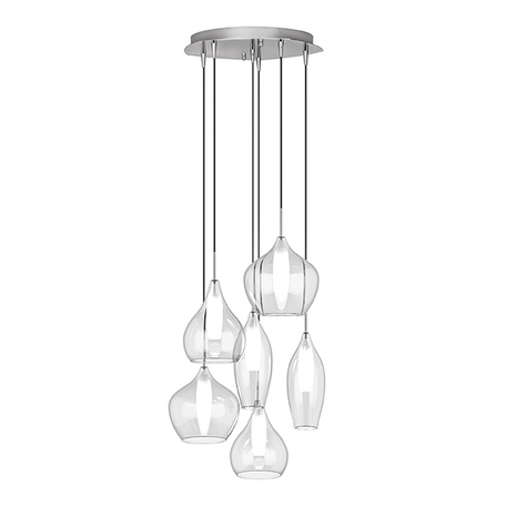 Люстра-каскад Lightstar Pentola 803061, 6xG9x25W, хром, прозрачный, металл, стекло - миниатюра 1