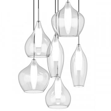 Люстра-каскад Lightstar Pentola 803061, 6xG9x25W, хром, прозрачный, металл, стекло - миниатюра 3