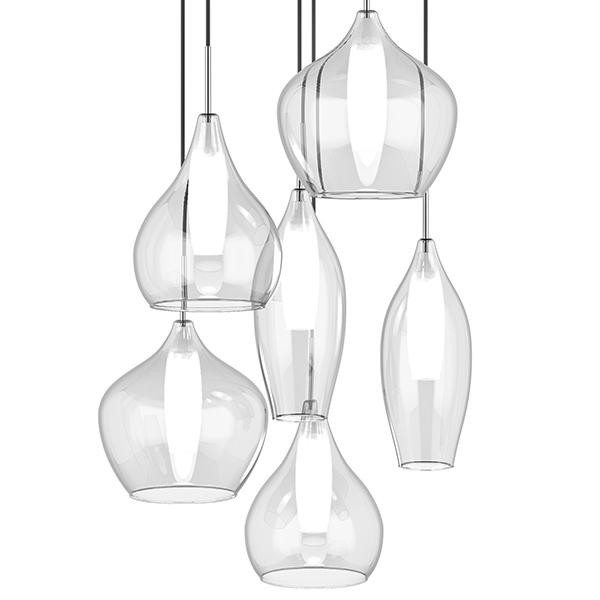 Люстра-каскад Lightstar Pentola 803061, 6xG9x25W, хром, прозрачный, металл, стекло - фото 3