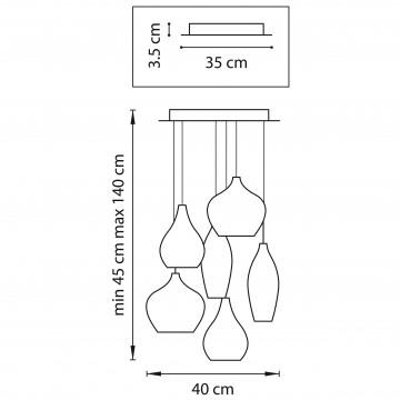 Схема с размерами Lightstar 803061