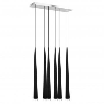 Люстра-каскад Lightstar Punto 807067, 6xG9x25W, хром, черный, металл