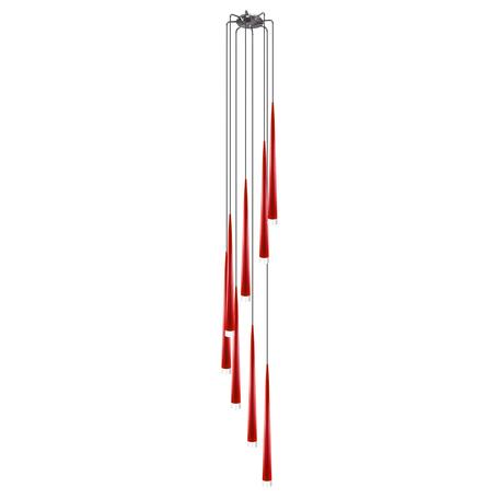 Люстра-каскад Lightstar Punto 807082, 8xG9x25W, хром, белый, красный, металл, стекло