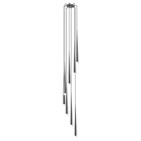 Люстра-каскад Lightstar Punto 807084, 8xG9x25W, хром, белый, металл, стекло