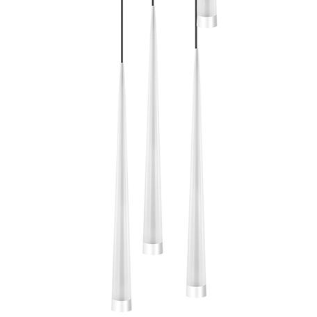 Люстра-каскад Lightstar Punto 807086, 8xG9x25W, хром, белый, металл, стекло