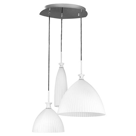 Люстра-каскад Lightstar Agola 810130, 3xE14x40W, хром, белый, металл, стекло