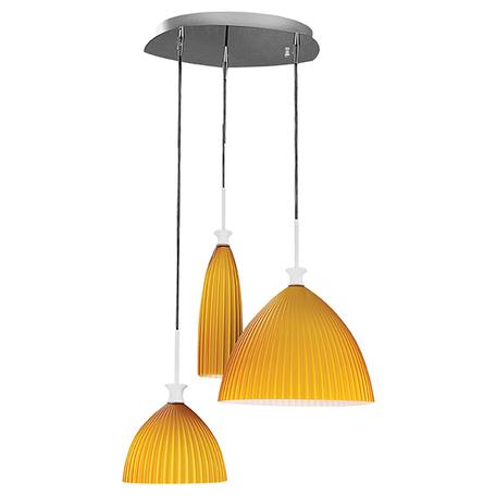 Люстра-каскад Lightstar Agola 810133, 3xE14x40W, хром, оранжевый, металл, стекло