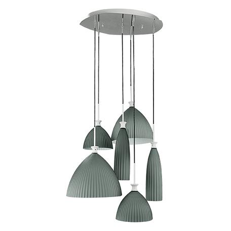 Люстра-каскад Lightstar Agola 810161, 6xE14x40W, хром, серый, металл, стекло