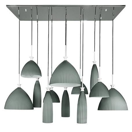 Люстра-каскад Lightstar Agola 810221, 12xE14x40W, хром, серый, металл, стекло