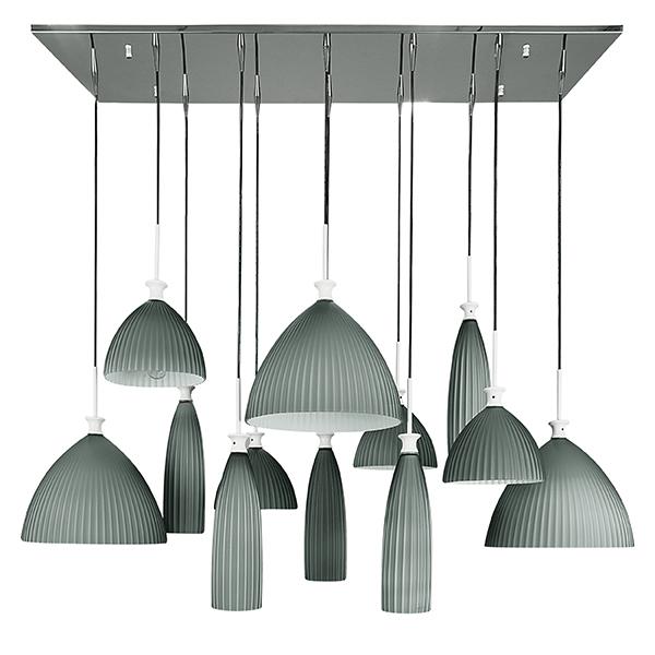 Люстра-каскад Lightstar Agola 810221, 12xE14x40W, хром, серый, металл, стекло - фото 1