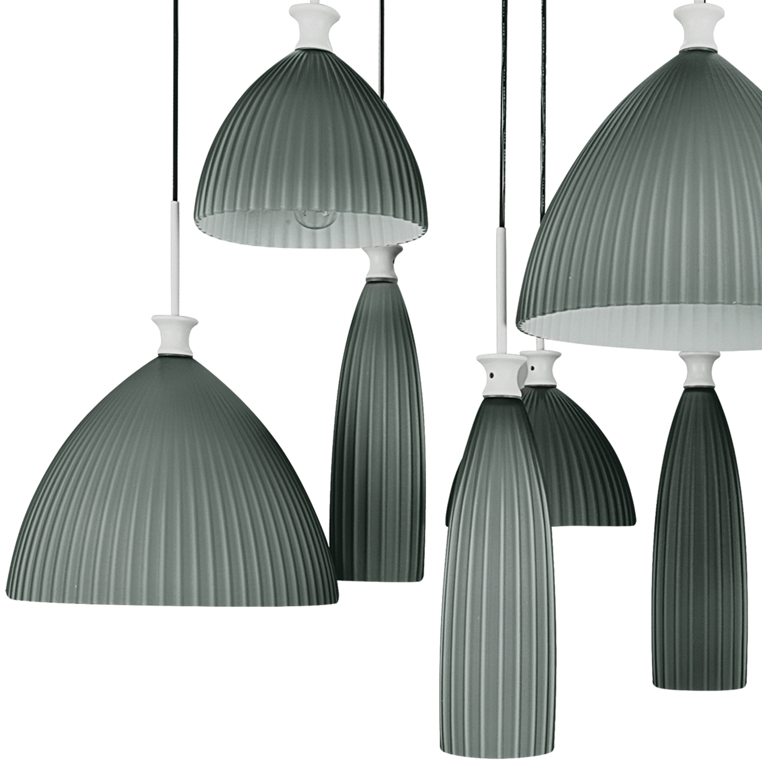 Люстра-каскад Lightstar Agola 810221, 12xE14x40W, хром, серый, металл, стекло - фото 2