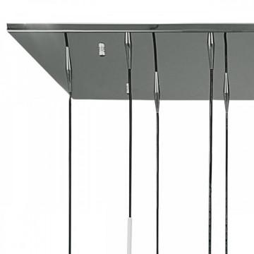 Люстра-каскад Lightstar Agola 810221, 12xE14x40W, хром, серый, металл, стекло - миниатюра 4
