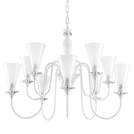 Подвесная люстра Lightstar Torcia 780100, 10xG9x40W, белый, металл с хрусталем, стекло