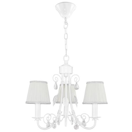 Подвесная люстра Lightstar Modesto 781030, 3xE14x40W, белый, прозрачный, металл, текстиль, хрусталь