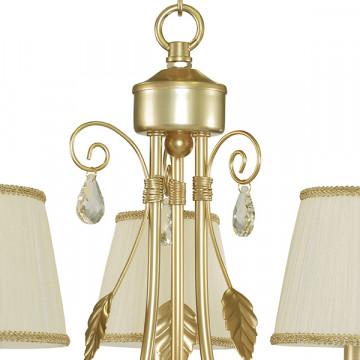 Подвесная люстра Lightstar Modesto 781032, 3xE14x40W, матовое золото, белый, прозрачный, металл, текстиль, хрусталь - миниатюра 6
