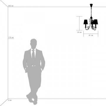 Схема с размерами Lightstar 781032