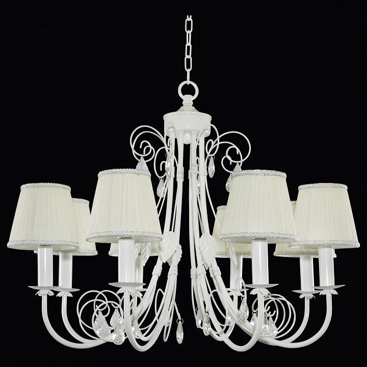 Подвесная люстра Lightstar Modesto 781080, 8xE14x40W, белый, прозрачный, металл, текстиль, хрусталь - фото 2