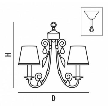 Схема с размерами Lightstar 781080