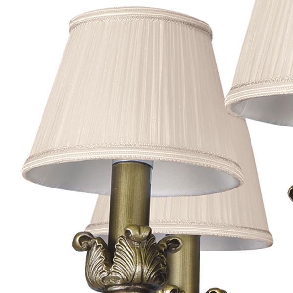 Подвесная люстра Lightstar Antique 783081, 8xE14x40W, бронза, бежевый, металл с хрусталем, текстиль - фото 2