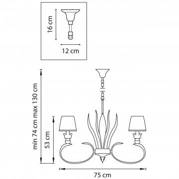 Схема с размерами Lightstar 783081