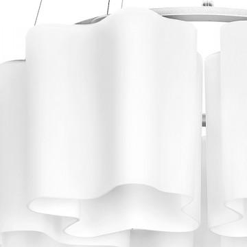 Подвесная люстра Lightstar Nubi 802160, 6xE27x40W, матовый хром, белый, металл, стекло - миниатюра 2