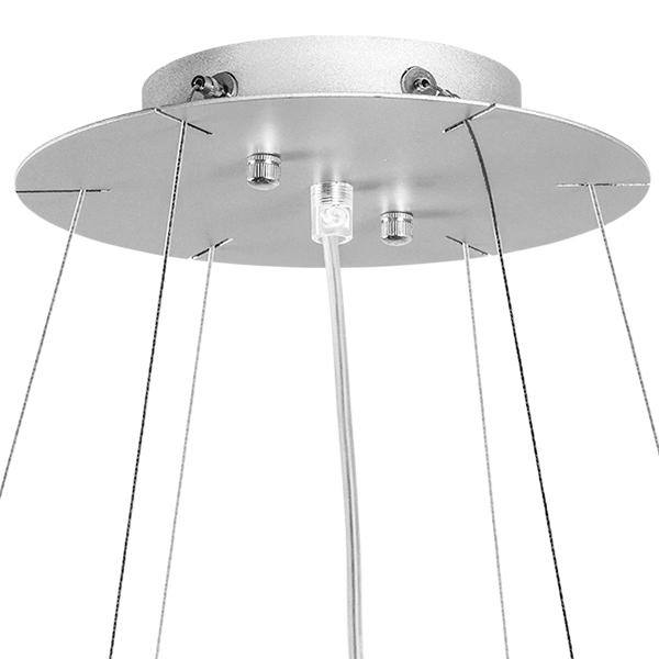 Подвесная люстра Lightstar Nubi 802160, 6xE27x40W, матовый хром, белый, металл, стекло - фото 3