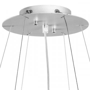 Подвесная люстра Lightstar Nubi 802160, 6xE27x40W, матовый хром, белый, металл, стекло - миниатюра 4