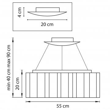 Схема с размерами Lightstar 802160