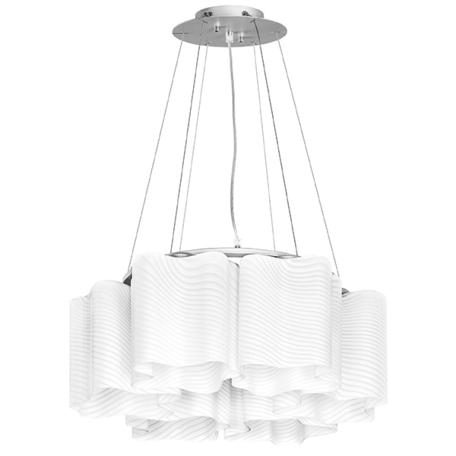 Подвесная люстра Lightstar Nubi Ondoso 802161, 6xE27x40W, матовый хром, белый, металл, стекло