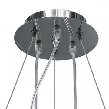Подвесная люстра Lightstar Planaria 808030, 3xE27x40W, хром, прозрачный, металл, пластик - миниатюра 6