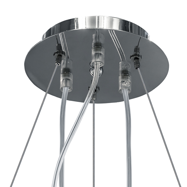 Подвесная люстра Lightstar Planaria 808030, 3xE27x40W, хром, прозрачный, металл, пластик - фото 6