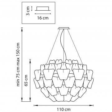Схема с размерами Lightstar 808030