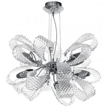Подвесная люстра Lightstar Ciambo 820110, 11xG9x40W, хром, прозрачный, металл, стекло