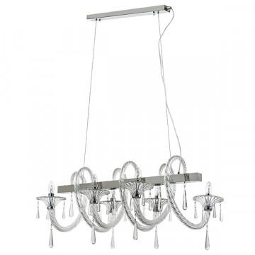 Подвесная люстра Lightstar Corno 821160, 6xE14x40W, хром, прозрачный, металл со стеклом, хрусталь