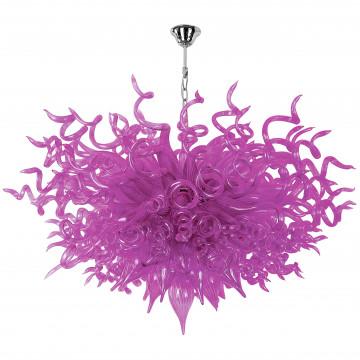 Подвесная светодиодная люстра Lightstar Artglass 890040, LED 9W 4000K, хром, фиолетовый, металл, стекло