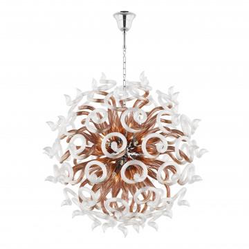 Подвесная люстра Lightstar Medusa 890184, 18xG9x40W, хром, янтарь, металл, стекло