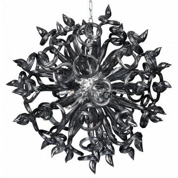 Подвесная люстра Lightstar Medusa 890187, 18xG9x40W, хром, серый, металл, стекло