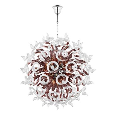 Подвесная люстра Lightstar Medusa 890188, 18xG9x40W, хром, коричневый, прозрачный, металл, стекло