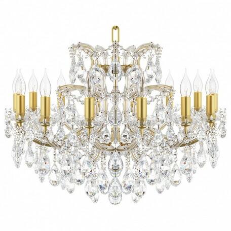 Подвесная люстра Lightstar Osgona Champa 775153, 15xE14x60W, золото, прозрачный, янтарь, стекло, хрусталь