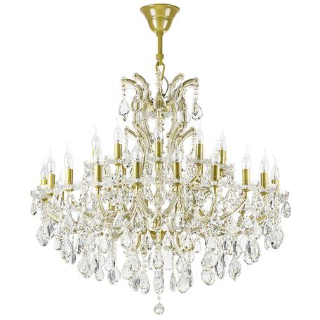 Подвесная люстра Lightstar Osgona Champa 775313, 31xE14x60W, матовое золото, прозрачный, стекло, хрусталь