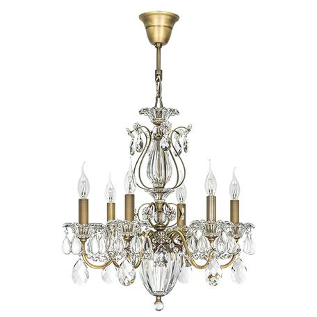 Подвесная люстра Lightstar Osgona Schon 790061, 6xE14x60W, бронза, прозрачный, металл, хрусталь