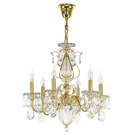 Подвесная люстра Lightstar Osgona Schon 790062, 6xE14x60W, золото, прозрачный, металл с хрусталем, хрусталь