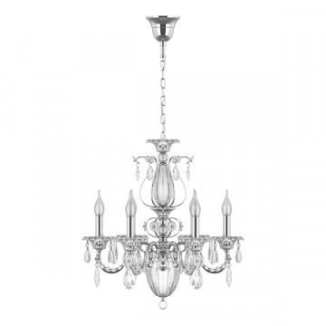 Подвесная люстра Lightstar Osgona Schon 790064, 6xE14x60W, прозрачный, серебро, металл, хрусталь