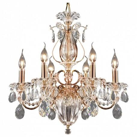Подвесная люстра Lightstar Osgona Schon 790068, 6xE14x60W, медь, прозрачный, металл с хрусталем, хрусталь