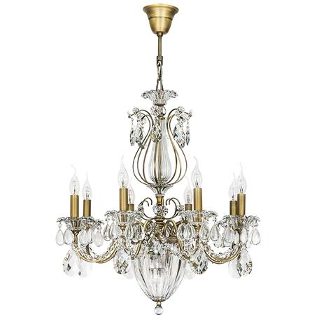 Подвесная люстра Lightstar Osgona Schon 790111, 11xE14x60W, бронза, прозрачный, металл с хрусталем, хрусталь
