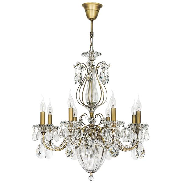 Подвесная люстра Lightstar Osgona Schon 790111, 11xE14x60W, бронза, прозрачный, металл с хрусталем, хрусталь - фото 1