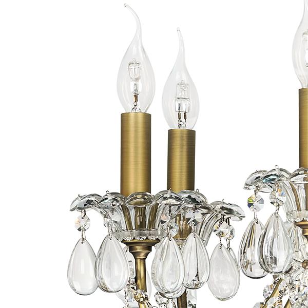 Подвесная люстра Lightstar Osgona Schon 790111, 11xE14x60W, бронза, прозрачный, металл с хрусталем, хрусталь - фото 4
